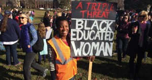Photo taken by David Saveanu | On January 21, 2017, Champaign's sister march took place beginning at West Side Park.