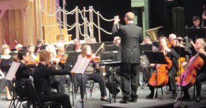 Photo by Peter Floess | Rodney Mueller conducts the Parkland Orchestra on March 5 at the Harold and Jean Miner Theatre.