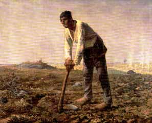 The Man With the Hoe by Jean-Francois Millet