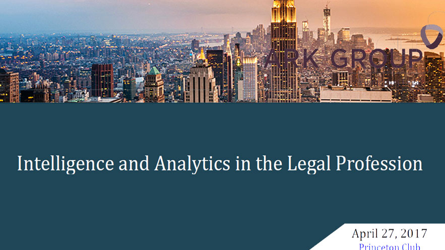 ARK Business Intelligence and Analytics on APR 27, 2017 in NYC