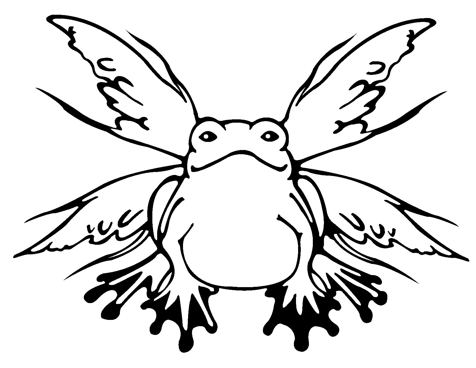 Frog Butterfly Decal