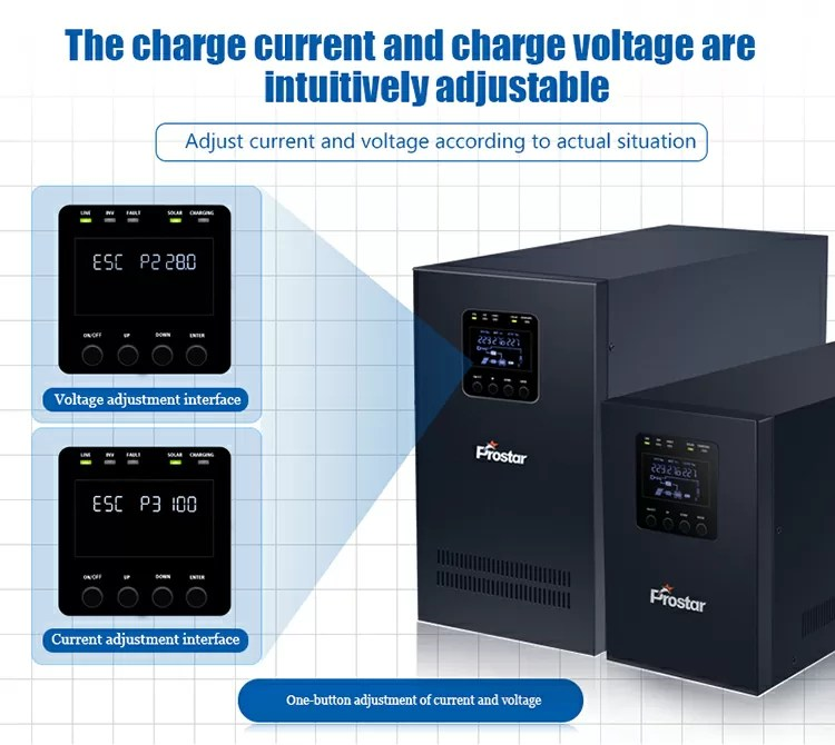 off grid solar inverter change charging voltage and current