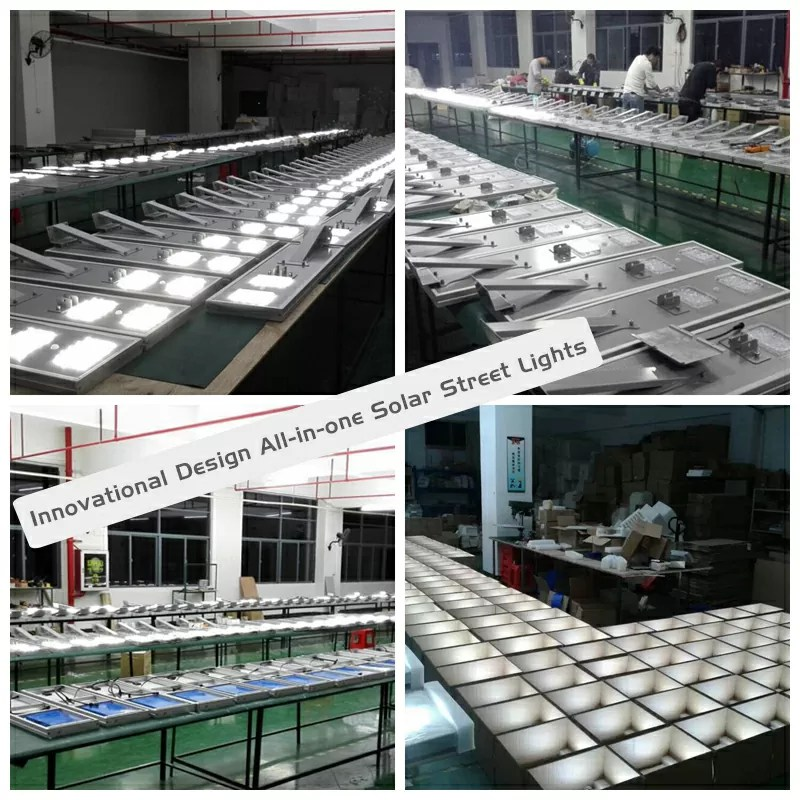 All in one LED solar street light production