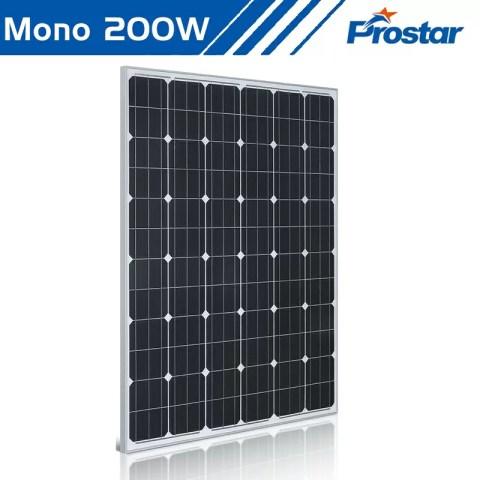 Prostar PMS200W 24 volt solar panel 200 watt mono for solar generator