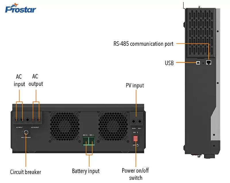 Hybrid Bi-directional PV Inverter 3KW-5.5KW Details