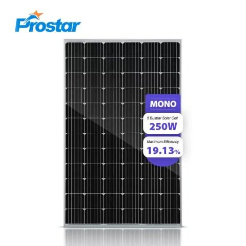 Prostar PMS250W monocrystalline solar cells 24v solar panel 250w price