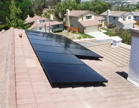 Black Solar Panels Installation