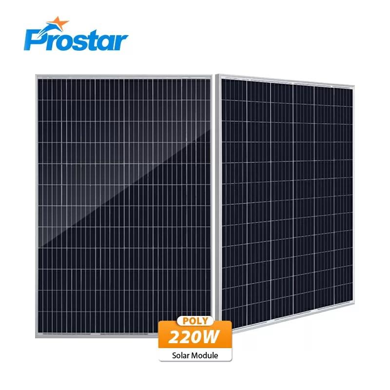 poly solar panel 220w