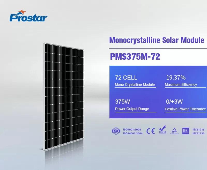 green electricity monocrystalline solar panel 375w