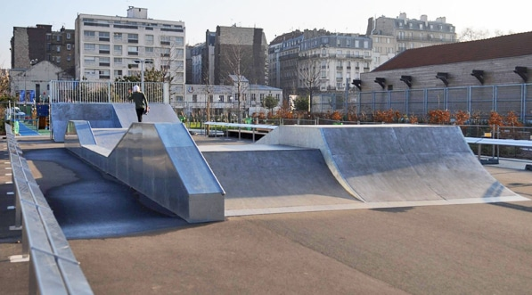 réhabilitation, skatepark, construction, module, france