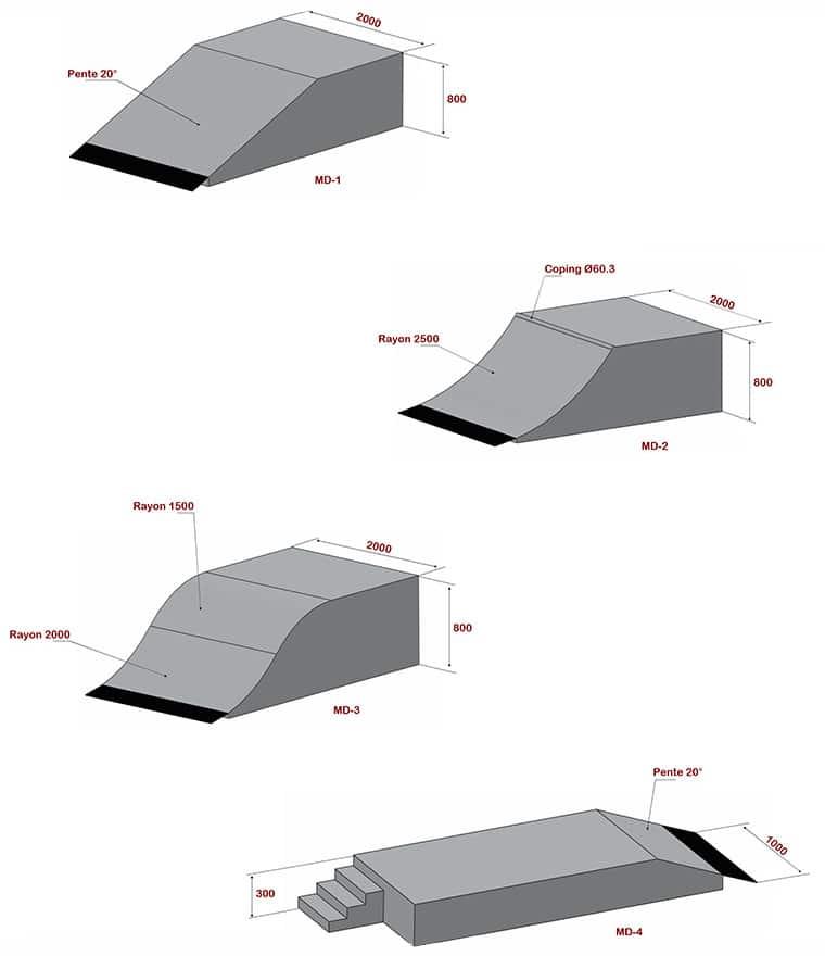 réhabilitation, skatepark, constructeur, module, france