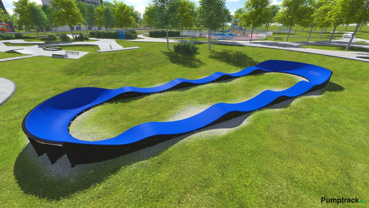 pumptrack bleu