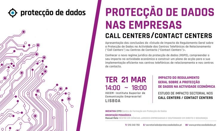 I Curso de Formação - Estudo de Impacto Sectorial - «Protecção de Dados Pessoais nos Call Centers e Contact Centers»