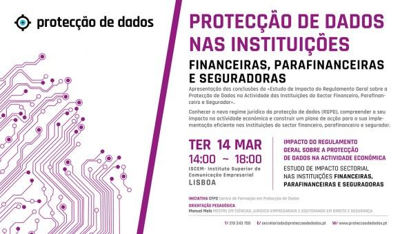 I Curso de Formação - Estudo de Impacto Sectorial - «Protecção de Dados Pessoais nas Entidades do Sector Financeiro»