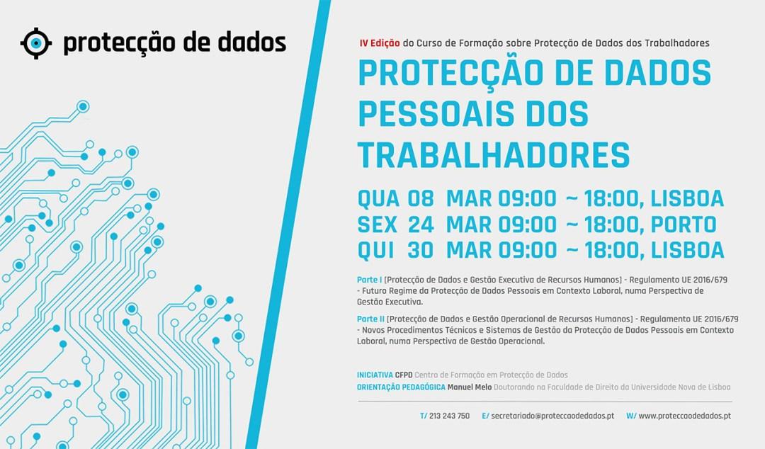 IV Curso de Formação - «Protecção de Dados Pessoais dos Trabalhadores» - Protecção de Dados em Contexto Laboral