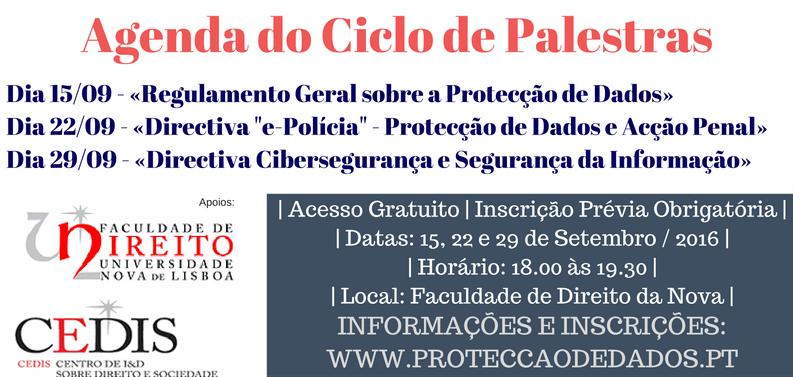 Ciclo de Palestras sobre Protecção de Dados e Cibersegurança