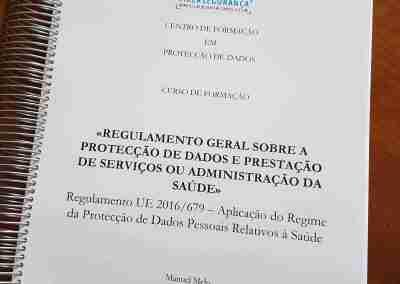 Manual do Curso «Regulamento Geral sobre a Protecção de Dados, Dados Pessoais Relativos à Saúde e Prestação de Serviços ou Administração da Saúde»