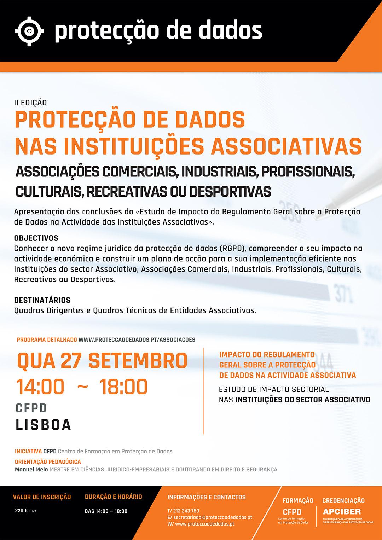 Estudo de Impacto Sectorial - «Protecção de Dados nas Instituições Associativas» - Programa do I Curso RGPD - Protecção de Dados Entidades Associativas - 20170927