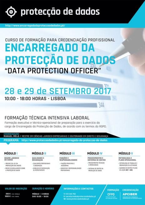 """Programa do Curso de Credenciação Profissional para Encarregados da Protecção de Dados (""""Data Protection Officers"""")"""