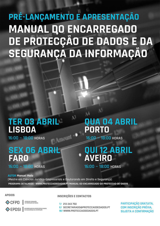 Agenda - Lançamento dos Manuais - Protecção de Dados e Segurança da Informação