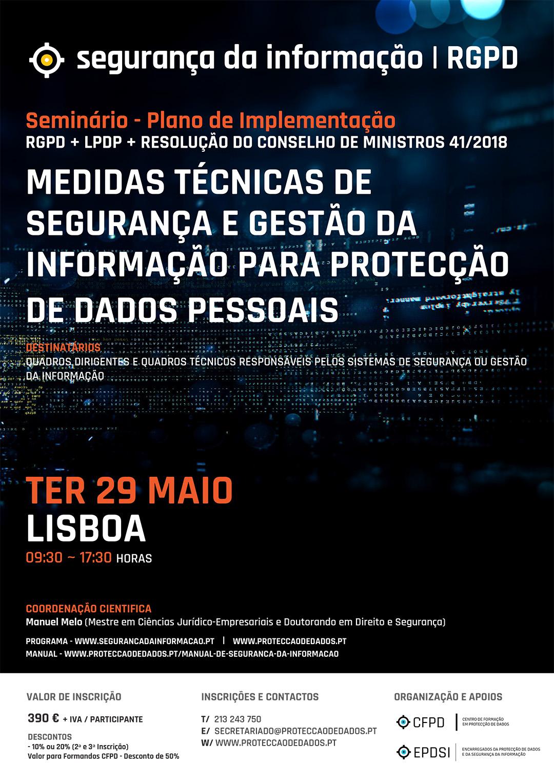 Medidas de Segurança da Informação - Reservar a Data - Cartaz - 29 de Maio