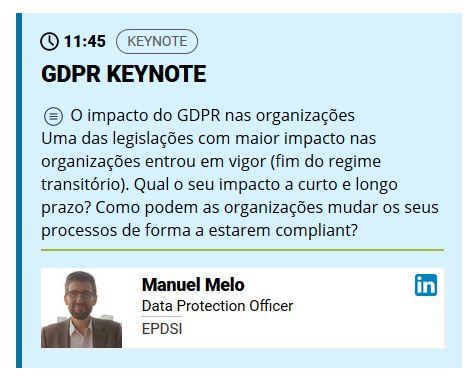 Curso Intensivo - Encarregados da Protecção de Dados - Data Protection Officers - Agenda Pós-Laboral