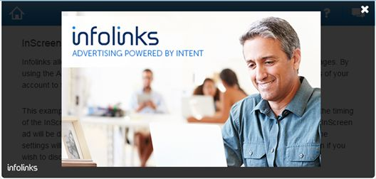 Infolinks InScreen Ads