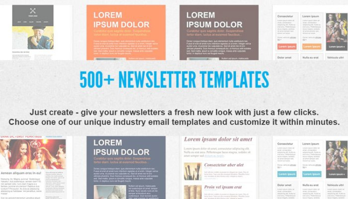 GetResponse Newsletter Templates
