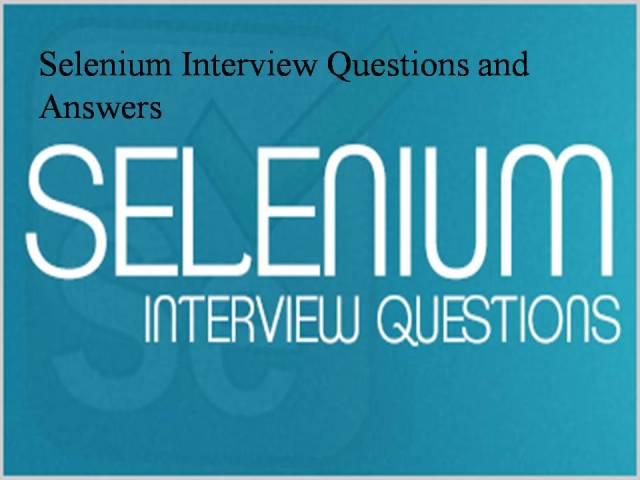 Selenium-Interview-Question