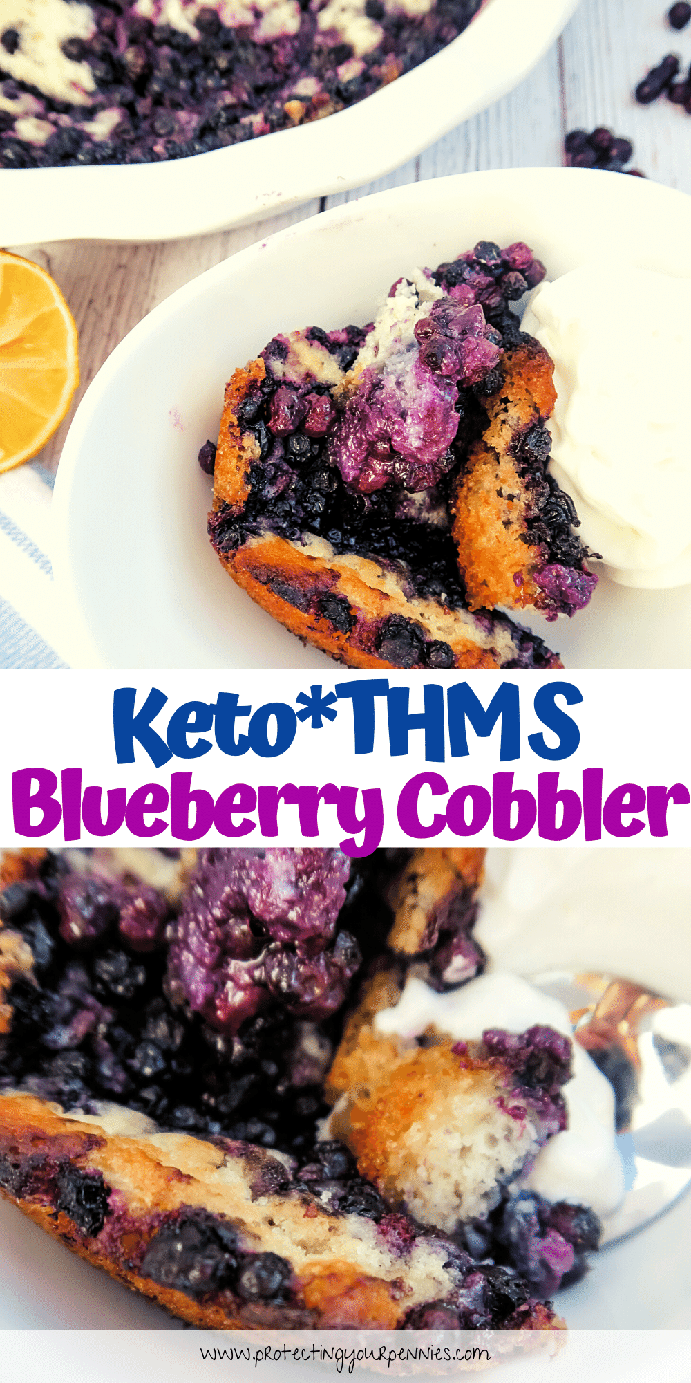 Keto - THM S Blueberry Cobbler