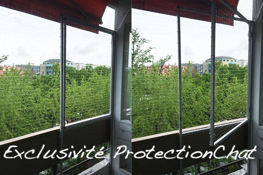filets transparents protection chat. Black Bedroom Furniture Sets. Home Design Ideas