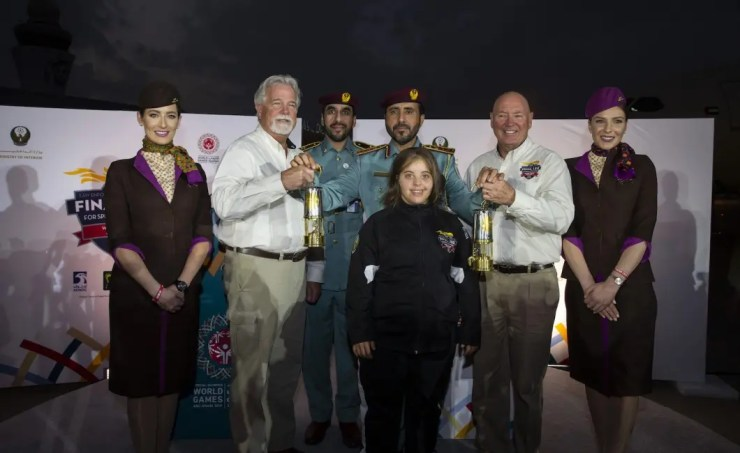 Special Olympic Flame arrives in Abu Dhabi