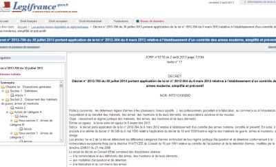 Nouvelle loi sur les armes en France : le décret est passé