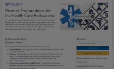 Préparation aux désastres dans les hôpitaux (MOOC)