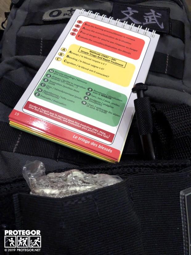 """Extrait du manuel """"Damage Control"""", page récap du SAFE ABC MARCHE RYAN"""