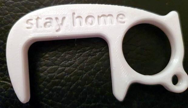 Création artisanale 3D ouvre-porte sans contact