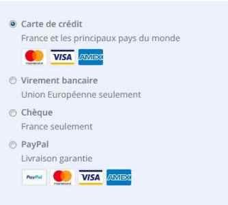 Nous acceptons de nouvelles cartes de crédit