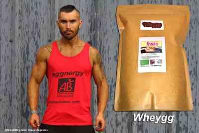 Wheygg bio: protéines de blanc d'œuf et de lait de marque Eggnergy