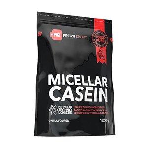 Prozis Caséine Micellaire 1250g – Source de Protéine Enrichie de BCAA – Complémnet pour Booster la Croissance Musculaire – Convient pour les Végétariens – 41 Portions