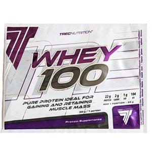 Trec Nutrition Whey 100 Protéine de Lactosérum Saveur Beurre de Cacahuètes – Lot de 2