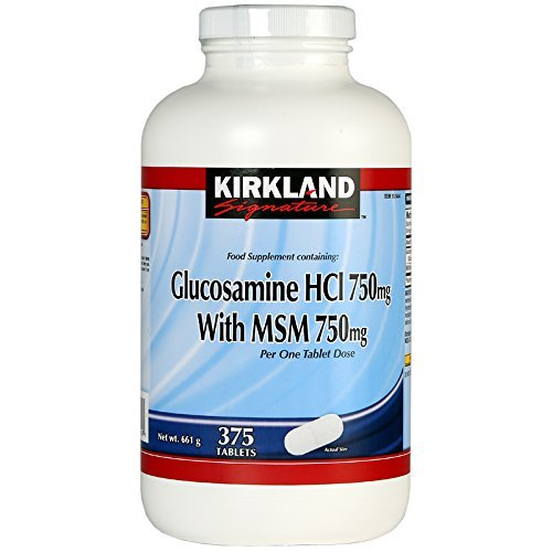 Kirkland Signature Glucosamine HCI 1500 mg with MSM 375 Tablets