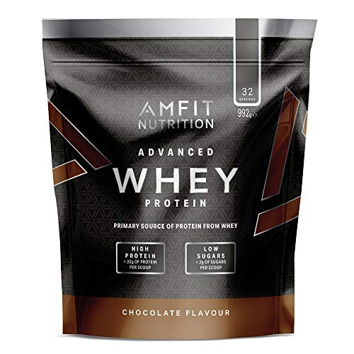 Marque Amazon – Amfit Nutrition Advanced Whey protéine de lactosérum saveur chocolat, 32 portions 990 g