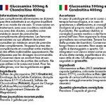 Glucosamine 500mg & Chondroïtine 400mg, 120 Gélules – Soulagement des Articulations Douloureuses, Fabriqué au Royaume-Uni