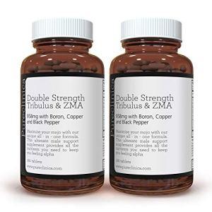 Tribulus et ZMA Double Force (958 mg – 40% Saponines avec Cuivre, Bore & Poivre Noir) x 360 COMPRIMÉS – 1 AN DE STOCK ! SKU: TRIBZ3x2