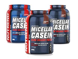Micellar Casein Protein Powder Long Digestion Dietary by Nutrend Vanilla Flavor 2250g longer digestion probiotic complex LactoWise™