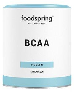 foodspring Gélules de BCAA, 120 gélules, Acides aminés essentiels pour la musculature, Fabriqué en Allemagne