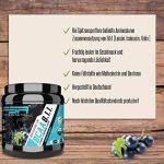Poudre BCAA 8:1:1 contenant des acides aminés essentiels, végétalienne et sans dextrose/maltodextrine, faible teneur en glucides, 300g – de FSA Nutrition, Groseille noire