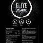 1000g / 1kg ELITE CREATINE | 200 portions de créatine monohydrate avec vitamine B6 | poudre de créatine micronisée | facteur de maille 200 ultrafine pour une absorption optimale