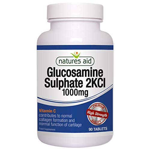 Natures Aid Glucosamine Sulphate 1000mg (with Vitamin C), 90 comprimés