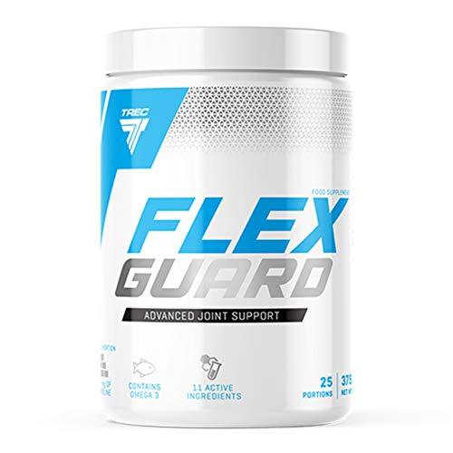 Trec Nutrition Flex Guard – Paquet de 1 x 375g – Supplément pour Articulations – Poudre – Collagène de Type I – MSM – Sulfate de Glucosamine – Collagène – Oméga 3 – Calcium (Wildberry)